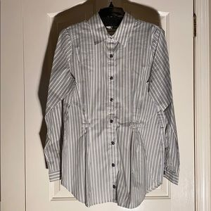 CAbi dress shirt large green, blue with white.
